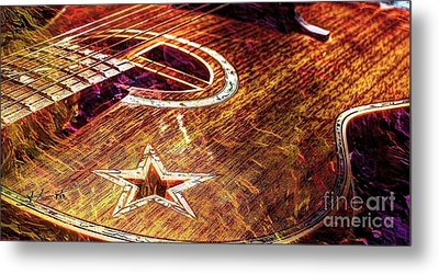 Wicked Music Digital Guitar Art By Steven Langston Metal Print by Steven Lebron Langston