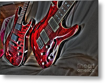 Wicked Relations Digital Guitar Art By Steven Langston Metal Print by Steven Lebron Langston