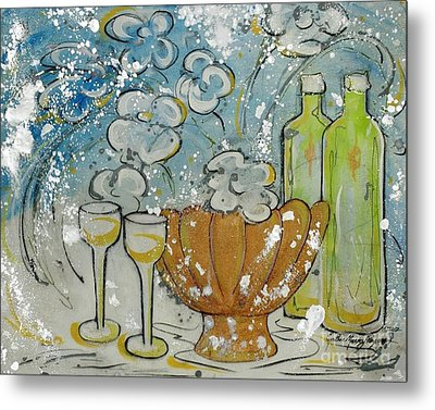 Wiine Time Metal Print by Cynthia Parsons