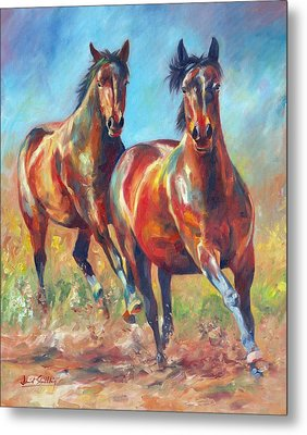 Wild And Free Metal Print by David Stribbling