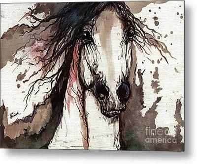 Wild Arabian Horse Metal Print by Angel  Tarantella
