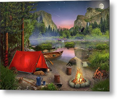 Metal Print featuring the drawing Wilderness Trip by David M ( Maclean )