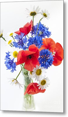 Wildflower Bouquet Metal Print by Elena Elisseeva