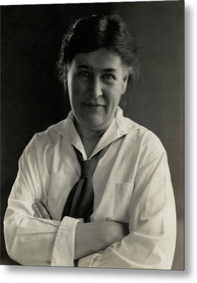 Willa Cather Wearing A Tie Metal Print