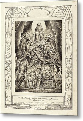 William Blake British, 1757 - 1827, Satan Before The Throne Metal Print