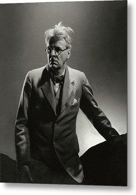 William Butler Yeats Wearing A Three-piece Suit Metal Print by Edward Steichen