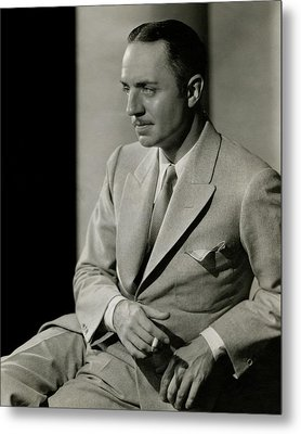 William Powell Wearing A Suit Metal Print
