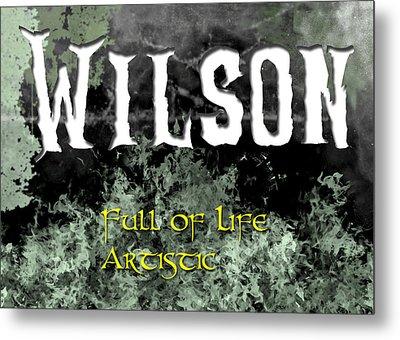 Wilson - Full Of Life Artistic Metal Print