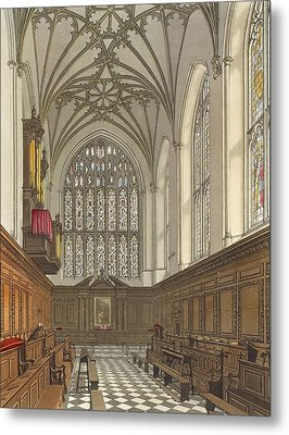 Winchester College Chapel, From History Metal Print by Frederick Mackenzie