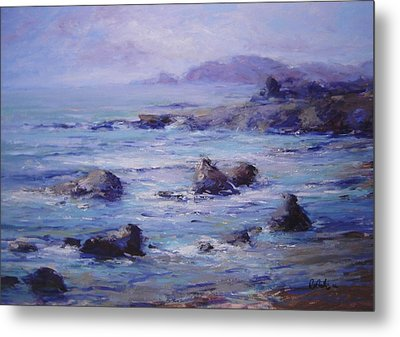 Wind On The Surf Metal Print by R W Goetting