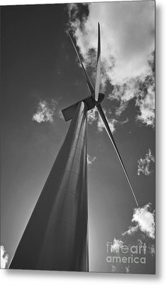 Metal Print featuring the photograph Windmill by Inge Riis McDonald