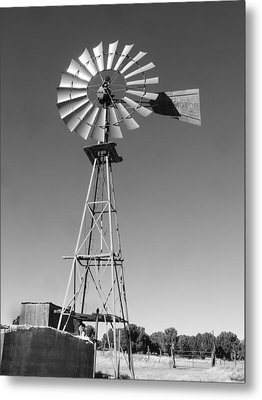 Windmill On The Range Metal Print