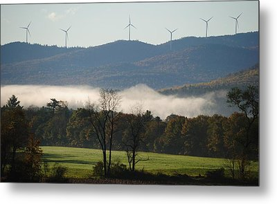Metal Print featuring the photograph Windmills by Paul Noble