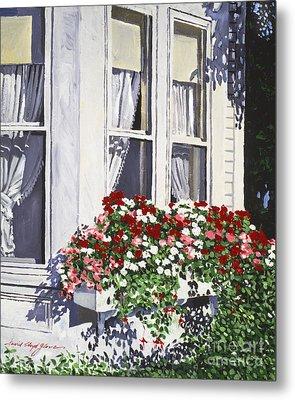 Window Box Colors Metal Print by David Lloyd Glover
