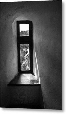 Window Dracula's Castle Interior204 Metal Print by Dorin Stef