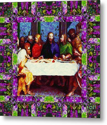 Window Into The Last Supper 20130130p68 Metal Print by Wingsdomain Art and Photography
