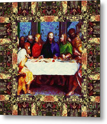 Window Into The Last Supper 20130130sep Metal Print by Wingsdomain Art and Photography