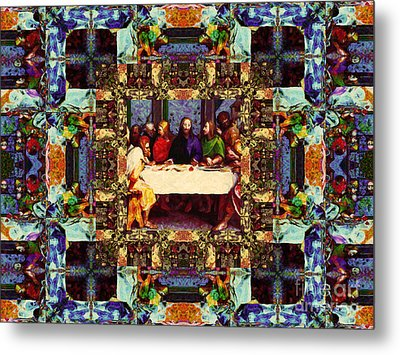Window Into The Last Supper 20130130v2-horizontal Metal Print by Wingsdomain Art and Photography