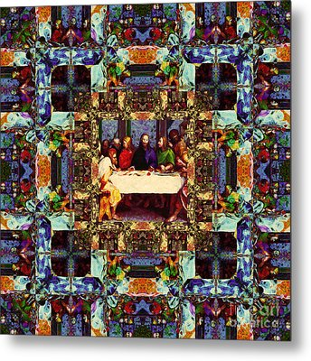 Window Into The Last Supper 20130130v2 Metal Print by Wingsdomain Art and Photography