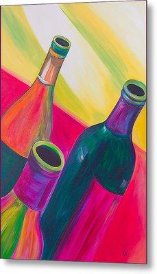 Wine Bottles Metal Print by Debi Starr