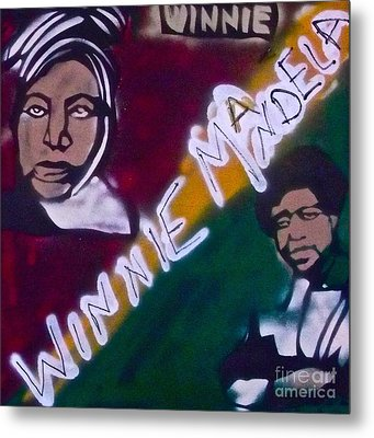 Winnie Mandela Metal Print by Tony B Conscious