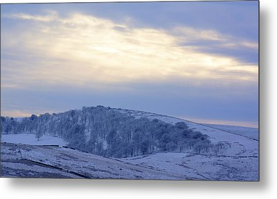 Winter Dusk Near Buxton Metal Print by David Birchall