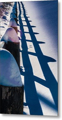 Winter Fence  Metal Print by Douglas Pike
