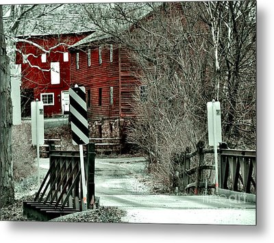 Winter Home Metal Print by Sharon Costa