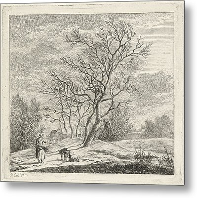 Winter Landscape, Johannes Janson Metal Print