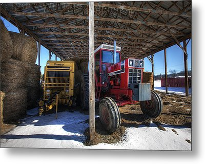 Winter On The Farm Metal Print by Eric Gendron