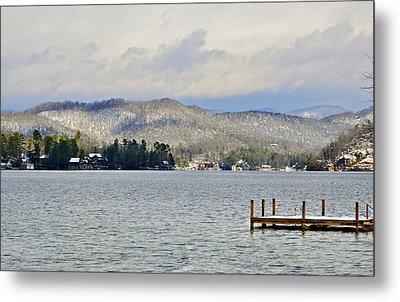 Winter On The Lake Metal Print by Susan Leggett