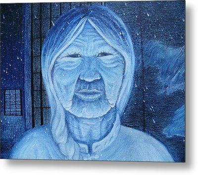 Winter Portrait Metal Print by Jacquelyn Roberts