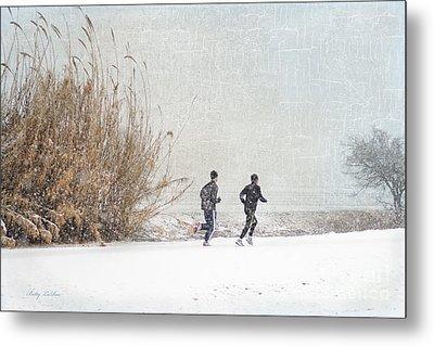 Winter Runners Metal Print by Betty LaRue