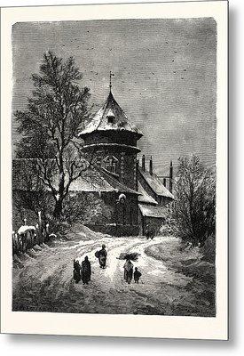 Winter Scenes, Winter Picture,winter Wonderland Metal Print by English School