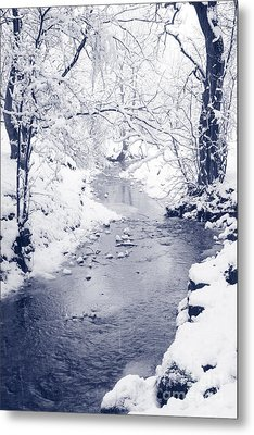 Metal Print featuring the photograph Winter Stream by Liz Leyden