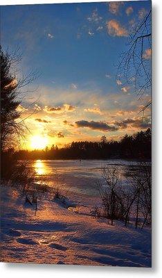 Winter Sundown Metal Print by Joann Vitali