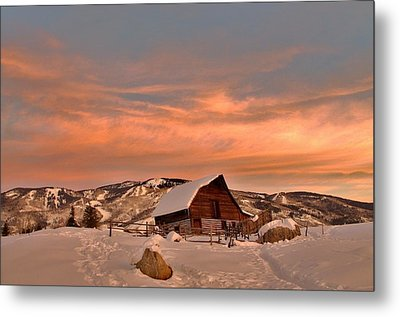 Winter Sundown Metal Print by Matt Helm