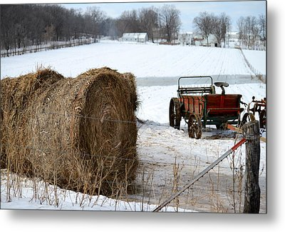 Metal Print featuring the photograph Winter's Rest by Linda Mishler