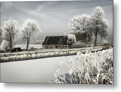 Metal Print featuring the photograph Winterwonderland by Michel Verhoef