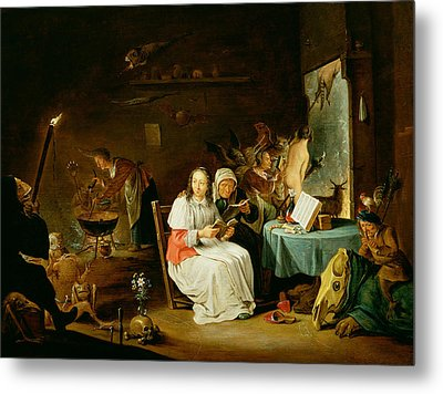 Witches Preparing For The Sabbat Metal Print by David the Younger Teniers
