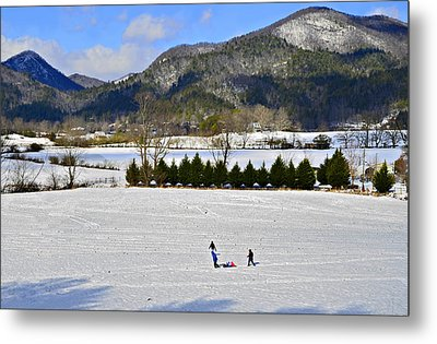 Wolffork Valley Winter Metal Print by Susan Leggett