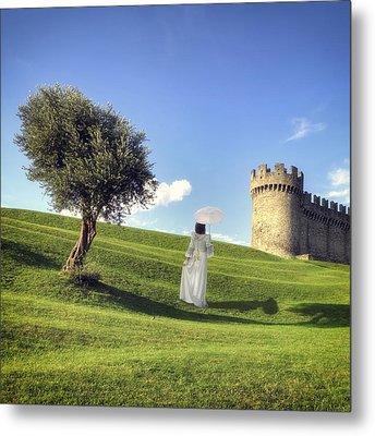 Woman On Meadow Metal Print by Joana Kruse