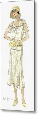 Woman Wearing A Dress By Redfern Metal Print by David