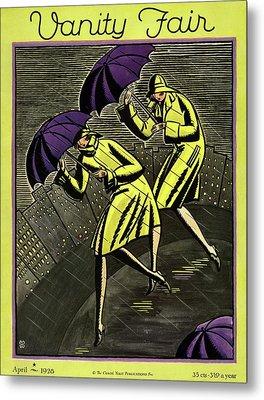 Women In The Rain Metal Print
