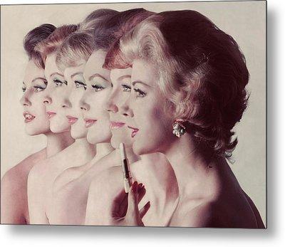 Women Wearing Revlon Lipstick Metal Print