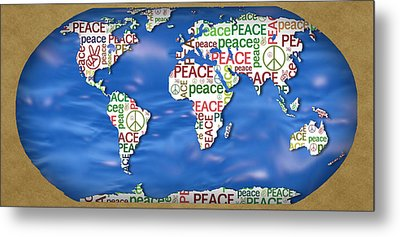 World Peace Metal Print by Chris Goulette