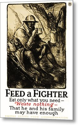 World War 1 - U. S. War Poster Metal Print by Daniel Hagerman