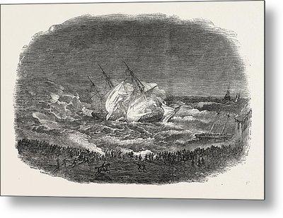 Wreck Of The Troop-ship Charlotte Metal Print