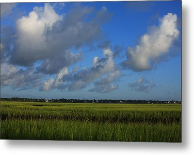 Wrightsville Beach Marsh Metal Print by Mountains to the Sea Photo