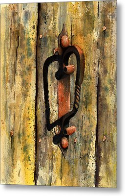 Wrought Iron Handle Metal Print by Sam Sidders